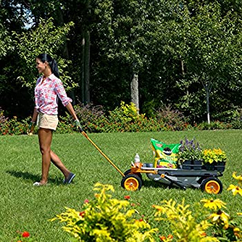 Worx Aerocart Multifunction 2-wheeled Yard Cart, Dolly, & Wheelbarrow With Flat Free Tires - Wg050 12