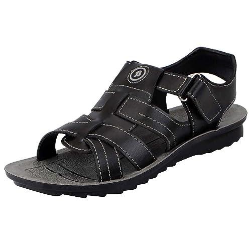 BATA Men's Black Fashion Sandal - 6 UK