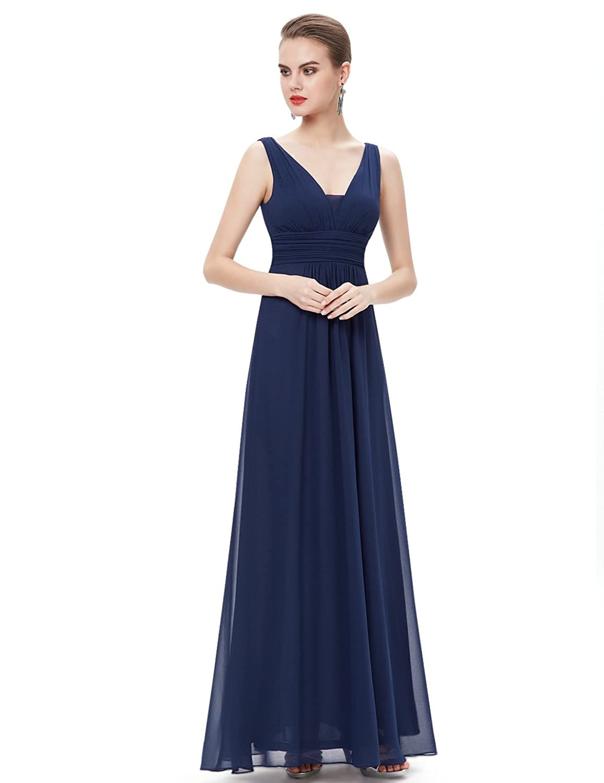 Ever-Pretty Damen Empire Kleid Blau Navy blue 46: Amazon.de: Bekleidung