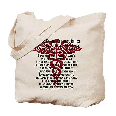 3e6e0511ed71 Amazon.com: CafePress Nursing School Survival Rules - Red Natural ...