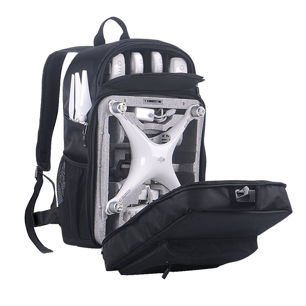 Smatree Phantom 4 Backpack for DJI Phantom 4/4 Pro (Original Styrofoam Case, Phantom 4 Battery, Propellers Not Included) by Smatree