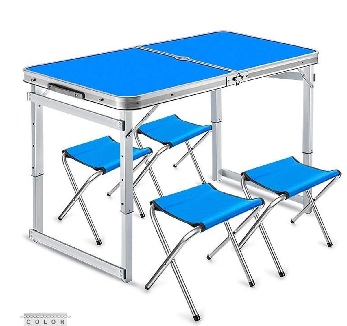 Baianju Portable Portable Folding Table Aluminum Folding Table Desktop Floor Table Outdoor Picnic Table Table by Baianju