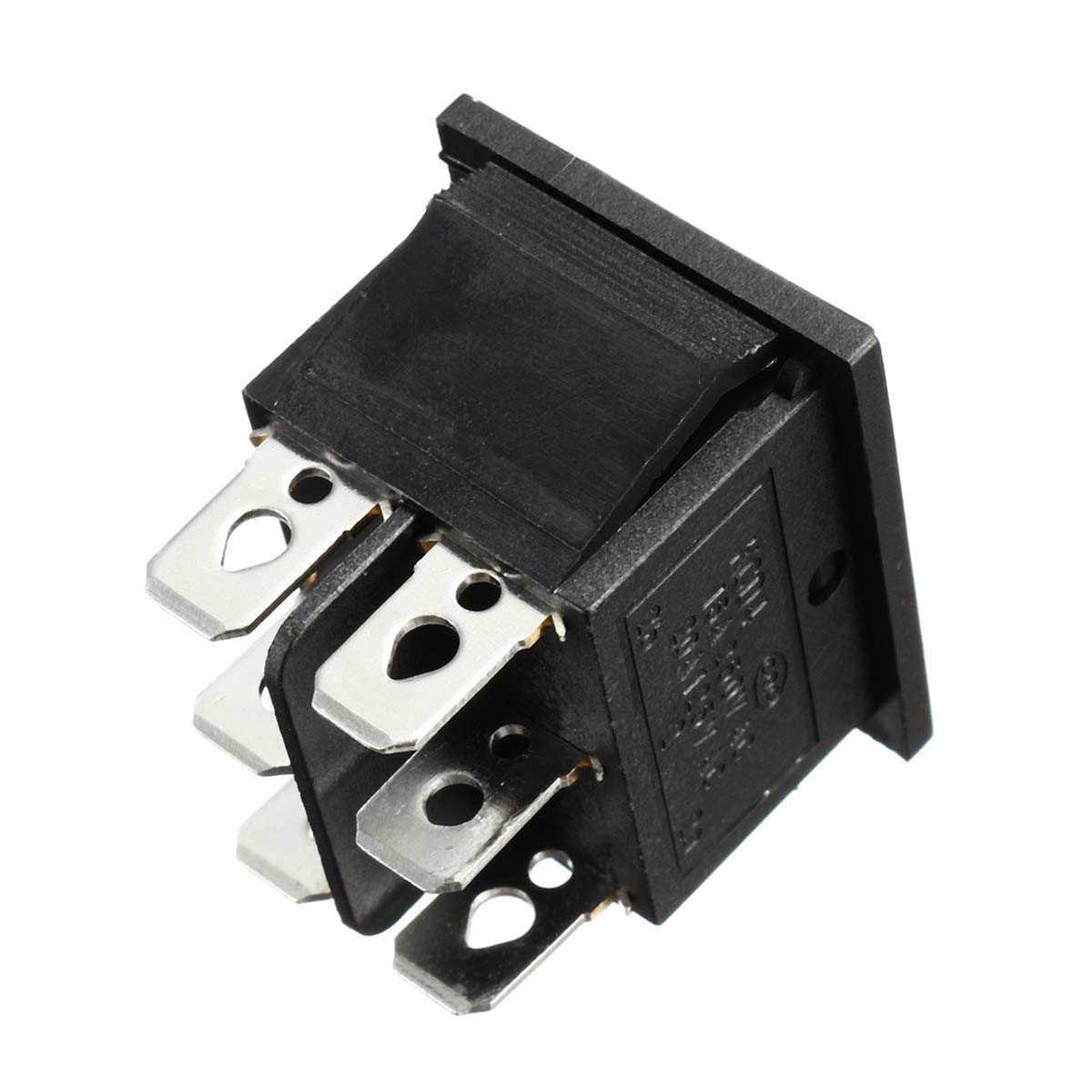 DyNamic 10 Piezas 250 V Ca 6 Pines 3 Posiciones Interruptor Basculante Alzamiento Barco On-Off-On Interruptor De Bot/ón Pulsador