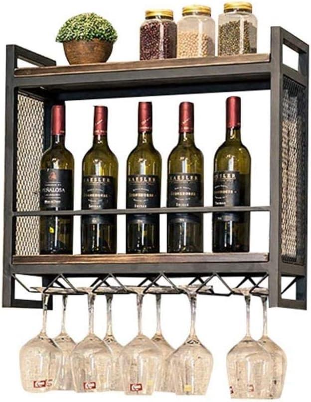 ワインラック ワインホルダー インテリア ワインラックレトロな木製の棚は、ストレージワインRackeボトルやガラスガラスワインホルダーフレームカップホルダーラック おしゃれ 実用的 工芸品 手作り 室内装飾