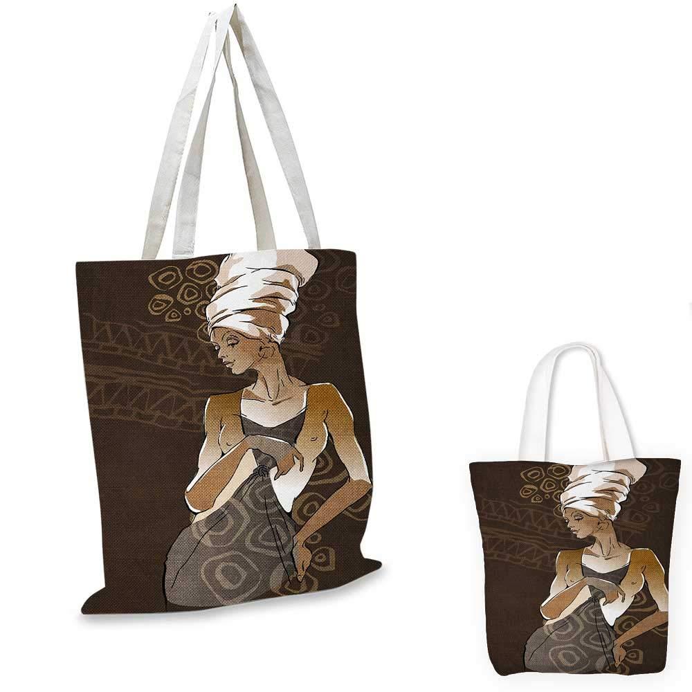 本物 African African Womanシルエットは伝統的な模様のバスケットを運ぶインディゴの女性です。 カラー03 12