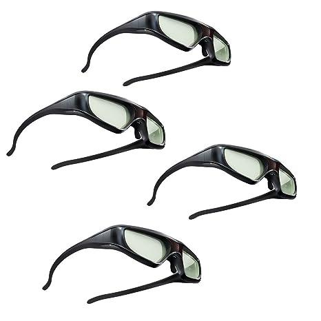 4 x DLP Link Gafas 3d Active Shutter Gafas con todos los DLP ...