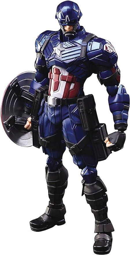Square Enix Marvel Universe Captain America Variant Bring Arts Action Figure, Multicolor