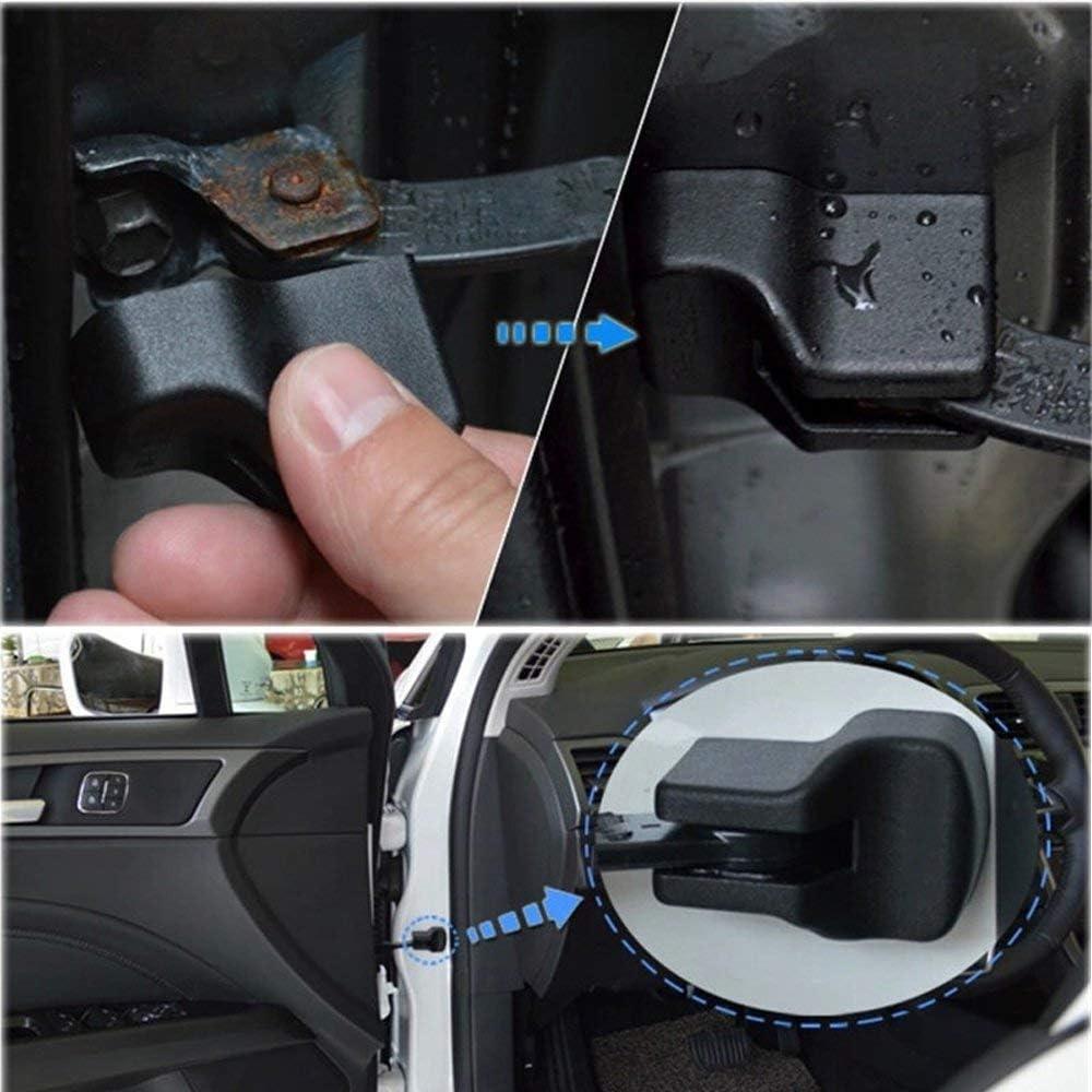 Maite For Nissan Sunny Tiida Sylphy Qashqai koleos Car Door Lock Stopper Cover Waterproof Dustproof Door Arm Protector Cover Black 4 Pcs
