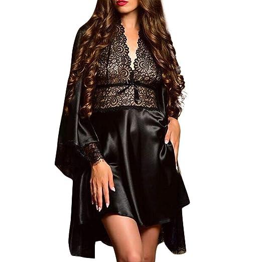 d5d5b9c5b9bb Sleepwear Gorgeous Nightgown and Kimono Robe Set Loungewear Women 2pc Satin Sleepwear  Robe Set Gorgeous Cami
