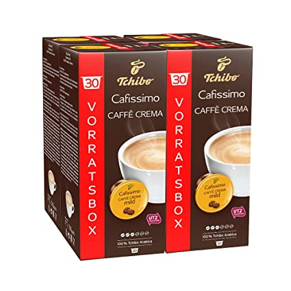 fda2fa3d0c9225 Tchibo Cafissimo Caffè Crema mild Kapseln, 120 Stück (4 x 30 Kapseln ...