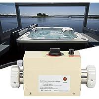 Zouminyy Termostato 3KW Acero inoxidable Impermeable Inteligente Digital Calentador de agua Termostato para bañera Piscina SPA(NOSOTROS)
