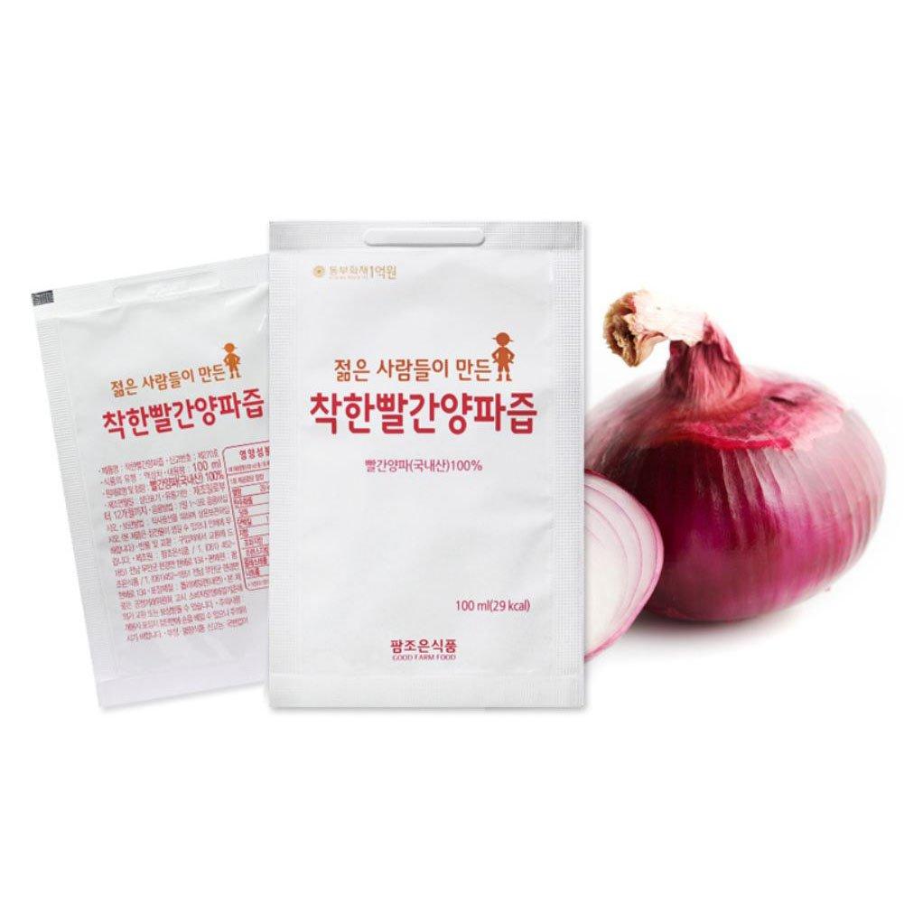 [Palm Joe Food] Red Purple Onion Juice 1Box X 100Pack / Gift/Health Food/Pack/Bundle/Health Drink/Diet foods/Parents Gift/Vegetable