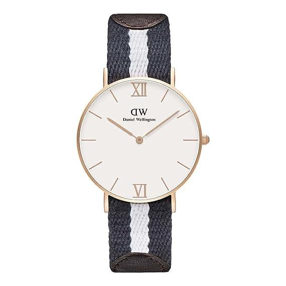 Daniel Wellington 0552DW - Reloj de cuarzo para mujer, con correa de tela, color: Amazon.es: Relojes