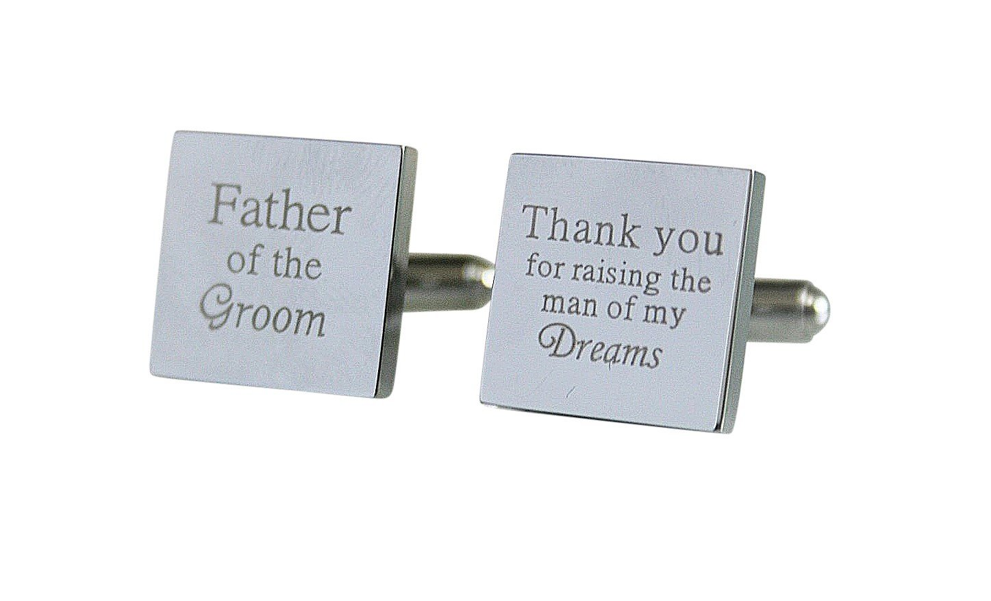Father of the Groom Cuff links Stainless Steel Gifts for Dad Wedding Cufflinks Gift Fathers Day Gift (Father of the Groom)