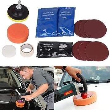 Mornon 15 Stück Auto Scheinwerfer Reparatur Polierset Für Scheinwerfer Polierset Kratzpolierlampe Reparaturbeschichtung Aufheller Auto