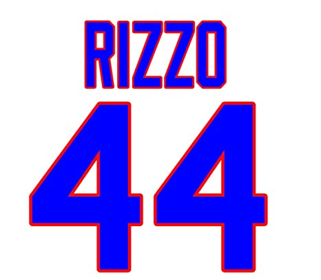 timeless design 1bcd5 4f4a1 Anthony Rizzo Chicago Cubs Jersey Number Kit, Authentic Home ...