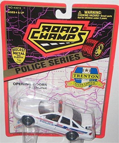 Road Champs Trenton New Jersey Police 1997 Chevrolet Caprice 1:43 Diecast (Caprice Police Car)