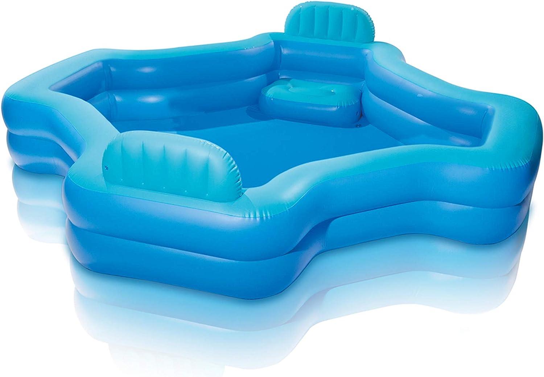 Piscina de salón familiar. Esta piscina hinchable por encima del suelo es ideal para la familia, los niños, adultos para tener al aire libre diversión con flotadores y juguetes. Grande, pero ligero