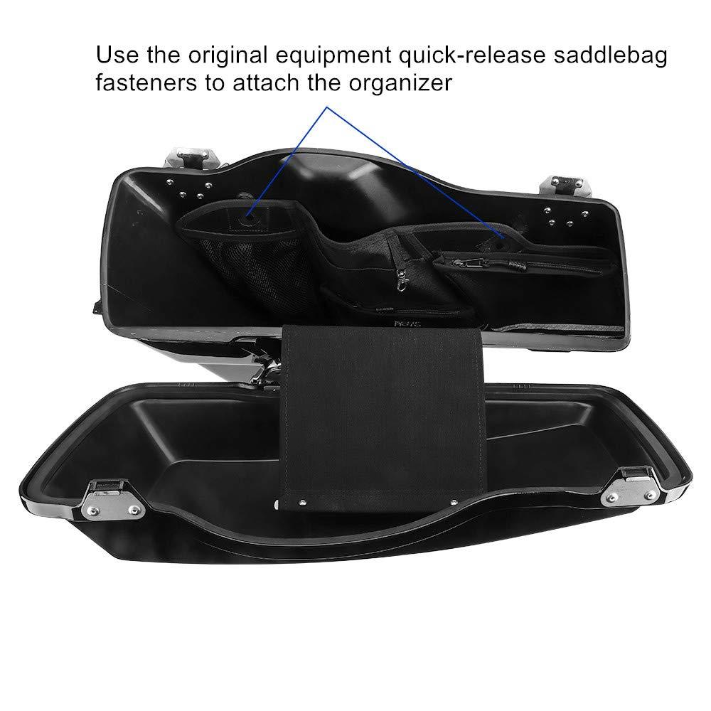 Saddlebag Organizer for Street Glide Road King Road Glide Electra Glide Touring 2014-2019 Saddle Bag Organizers