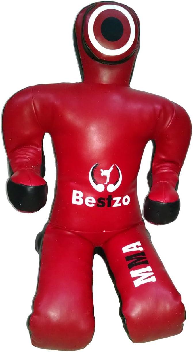 bestzo MMA Jiu Jitsu柔道Punching BagダミーSitting Positionレッド& 黒-unfilled Canvas 赤 & 黒 59 inches (5 ft)