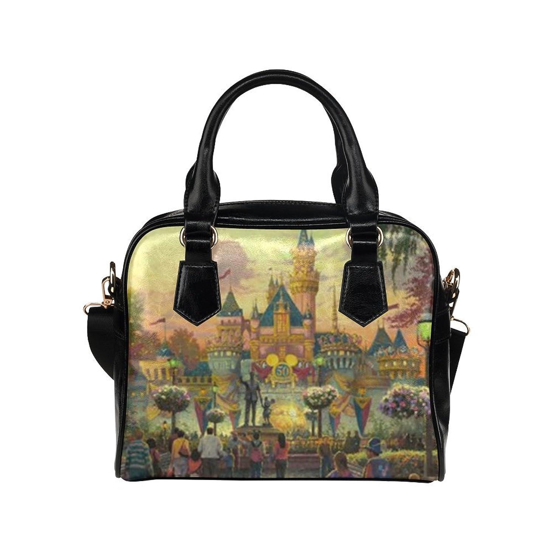 Walt Disney Castle Anniversary Custom Leather Handbag Shoulder Bag for Women By Boom~shakalaka (Twin Sides)
