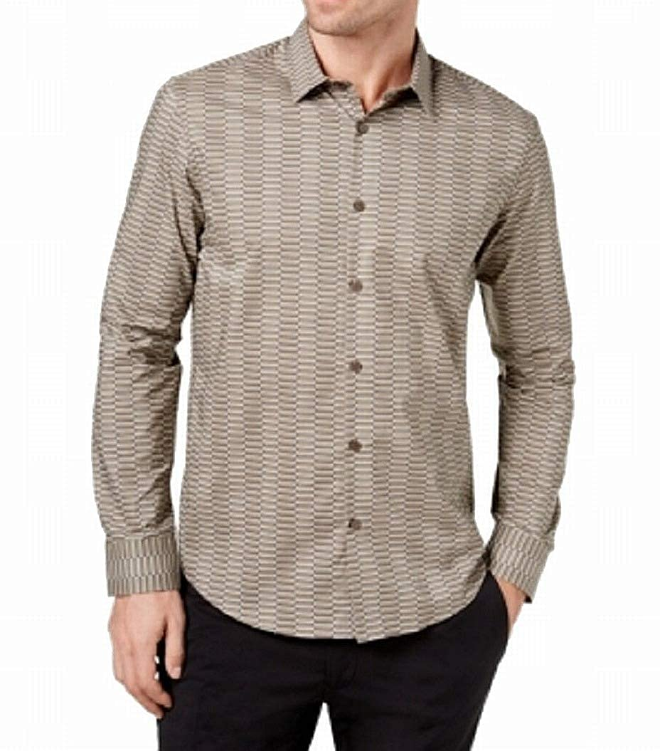 Alfani Mens Cross-Print Shirt