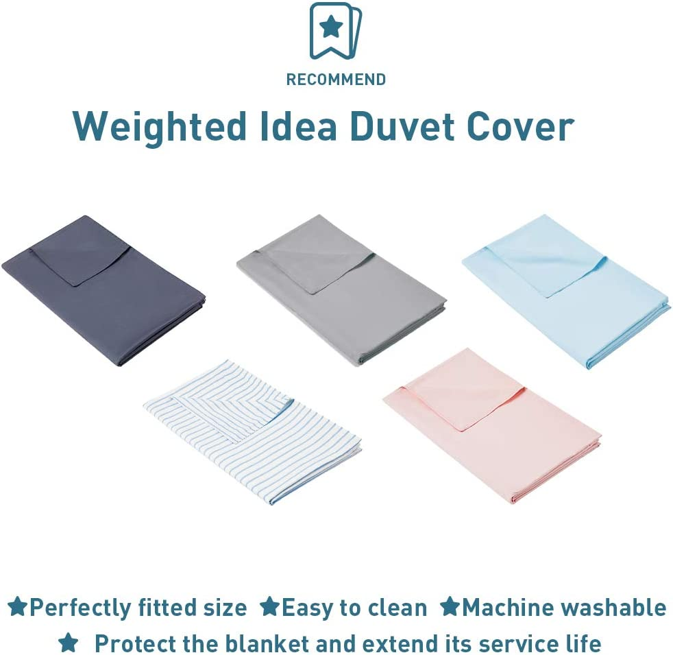 Weighted Idea Weighted Blanket 7 lbs for Kids 41x60 100/% Natural Cotton, Grey, Fit Twin Sized Bed