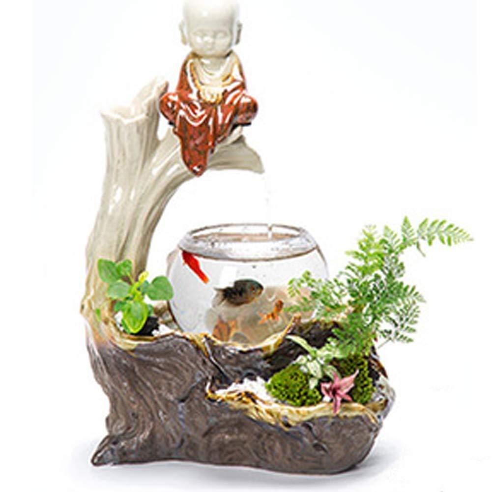 LSHUAIDJ Acquario Ceramica rocaille Fontana Fontana casa Soggiorno Soggiorno Soggiorno TV Mobile in Vaso umidificatore Desktop Fish tank-TC10 925792