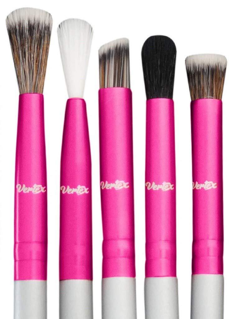 Eye Shadow Blending Brush Set - Cut Crease Brush Pro Shader For Smooth Soft Finishes Tapered Brushes Soft Blender Expert Eyeshadow Shading - Effortlessly Blend & Shade Cream Powder Highlighter