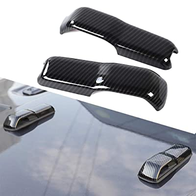 2pcs Car ABS Engine Hood Hinge Cover Decoration Cover Sticker Frame Styling Cover Exterior Accessories for 2020-2020 Jeep Wrangler (Carbon Fiber): Automotive
