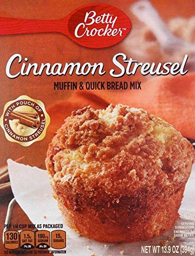 Muffin Streusel - Betty Crocker Cinnamon Streusel Muffin Mix, 13.9 oz
