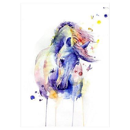 Agua Colores Acuarela caballo Tattoo Lila Rosa Multicolor/Colores ...