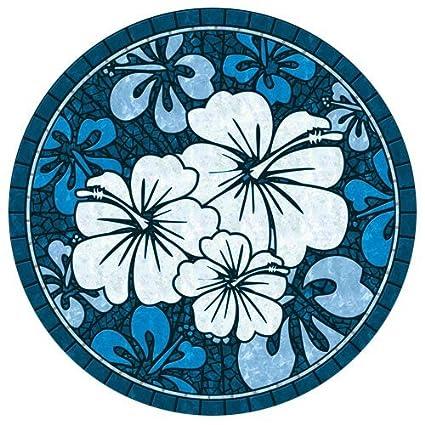 Amazon.com : Drop-in Hibiscus Vinyl Swimming Pool Mat (59\