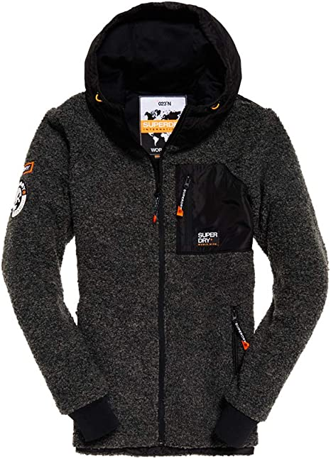 Superdry Mountain Sherpa Ziphood, Pull Homme: