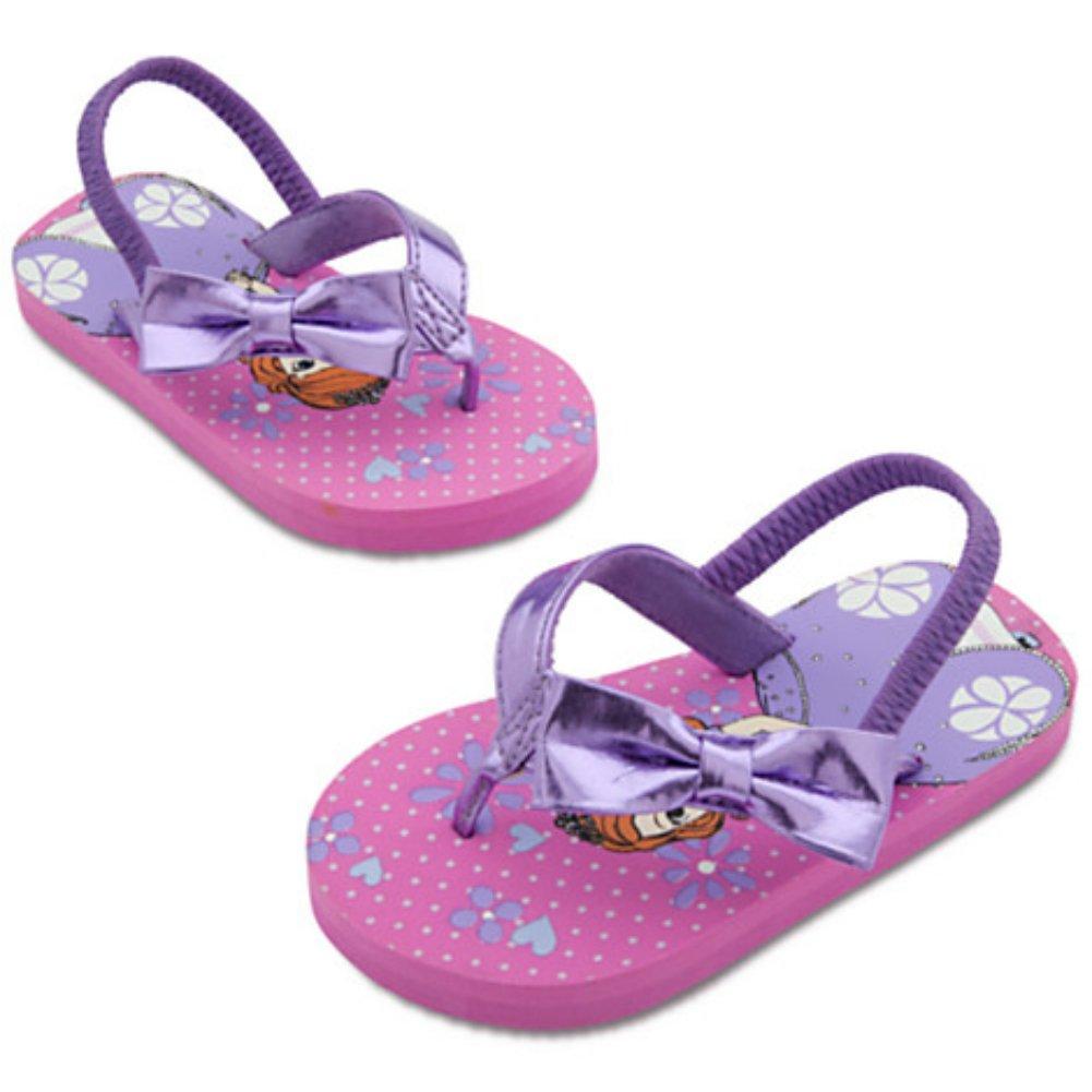 Disney Store Girls Sofia First Steps Flip Flops Purple Size 5//6