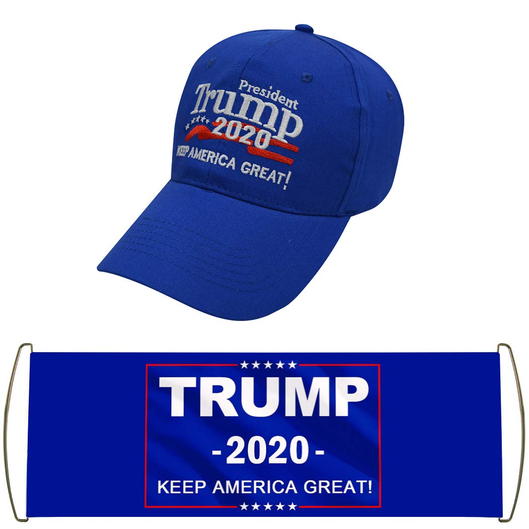 Modern Fantasy Donald Trump 2020 Keep America Great Patterned USA Caps Adjustable Baseball Bucket Hats with Slogan Hand Flag