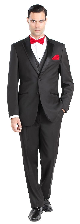 Giorgio Fiorelli Mens 2 Button 3 Piece Modern Fit Walton Tuxedo with Vest WalTux_V