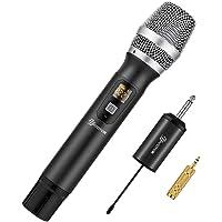 EIVOTOR Draadloze Microfoons, Karaoke Draadloze ,UHF Draadloze Dynamische Microfoon, voor Thuiskaraoke, Vergadering…