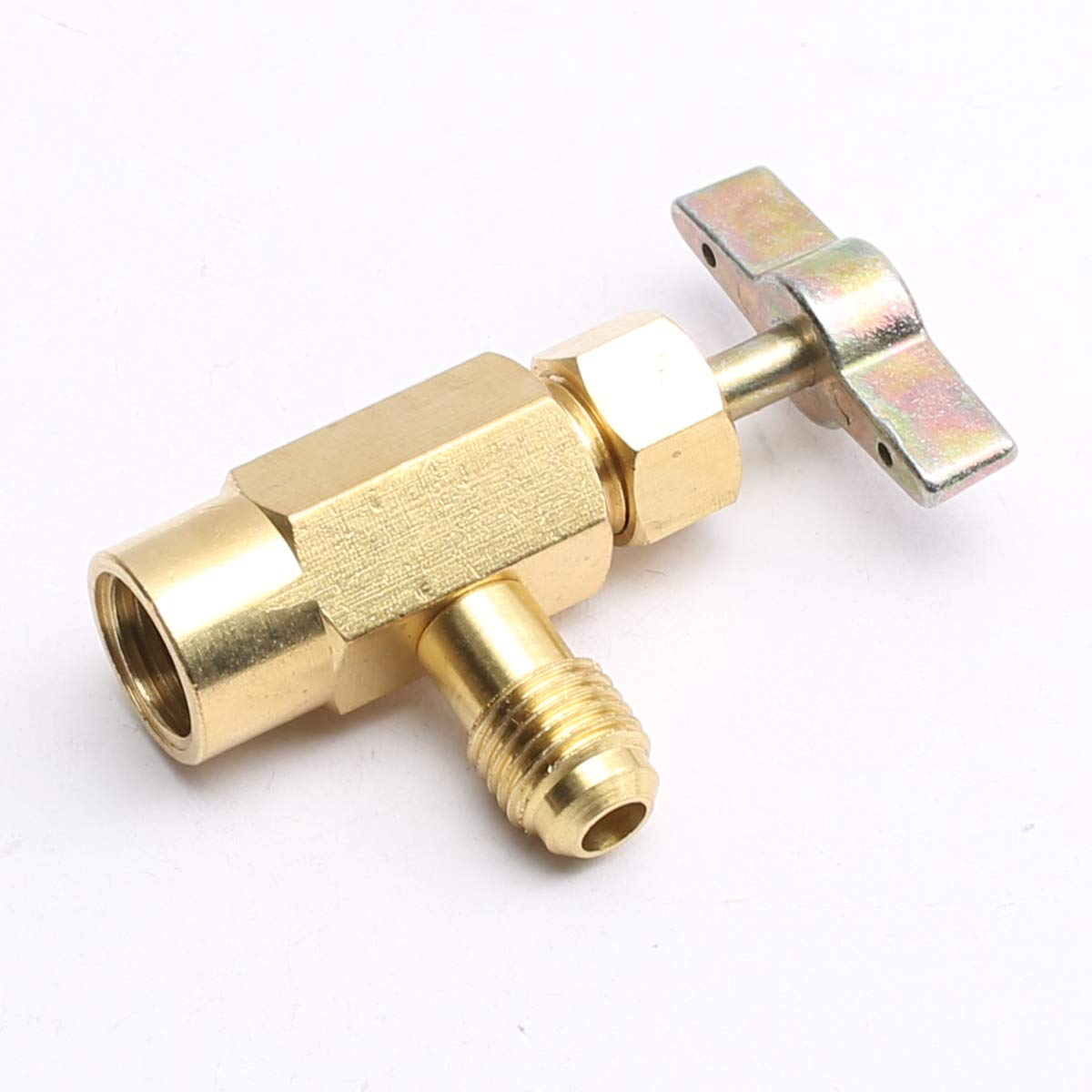 "R-134a AC Refrigerant Gold Brass Can Tap Dispensing 1//2/""Acme Thread Valve"