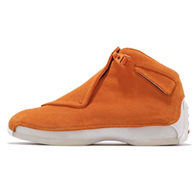 1f0dc596 Image Unavailable. Image not available for. Color: Nike Men's Air Jordan 18  Retro Basketball Shoes Orange Size 15