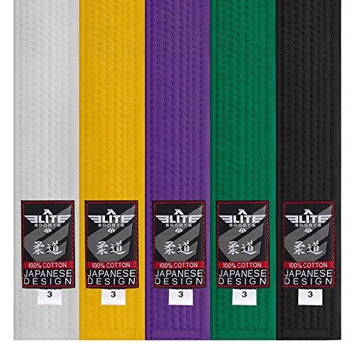 (Elite Sports New Item Judo Belt (Black,)