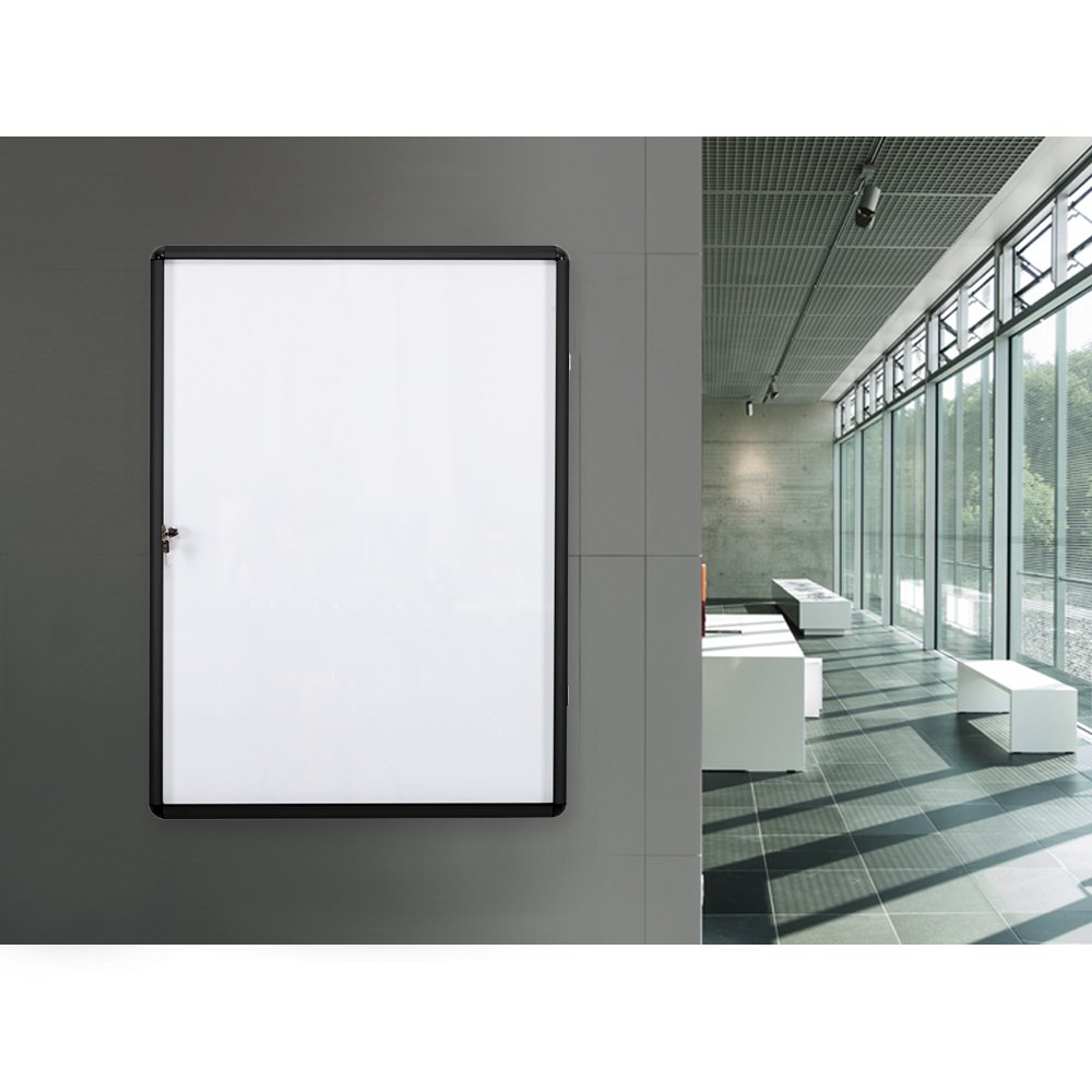 SwanSea Lockable Bulletin Boards Magnetic Whiteboard Notice Cabinet Tamperproof with Aluminum Frame 28x26inch (9xA4) by S SWANCROWN (Image #4)