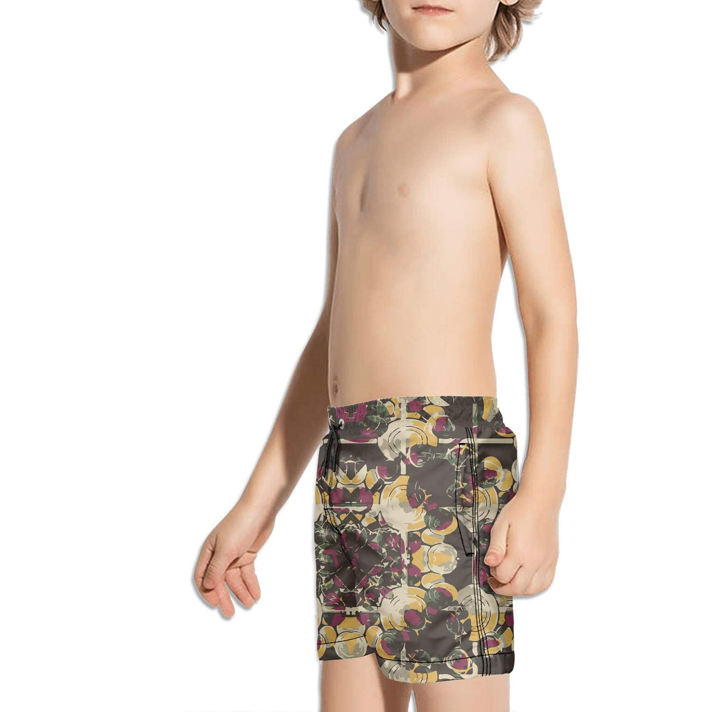 Ouxioaz Boys Swim Trunk Painting Sunflower Lily Floral Beach Board Shorts