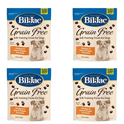 (Bil-Jac Grain Free Soft Chicken Training Dog Treat (4 Pack) 10 oz Each)