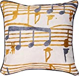MWW Manual Indoor/Outdoor Climaweave Throw Pillow,  Music Stanzas I, 18\
