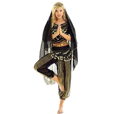 Amazon.com: Yeahdor - Disfraz de baile de vientre para mujer ...