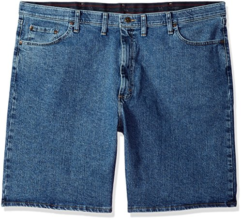 Wrangler Men's Big and Tall Authentics Comfort Flex Denim Short, Light Stonewash, 44