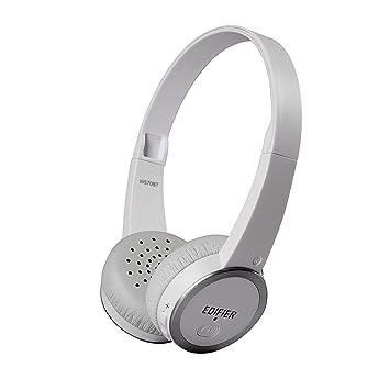 Edifier W570Bt Auriculares Bluetooth de Diadema Cascos On-Ear Ligeros Inalámbricos Blancos