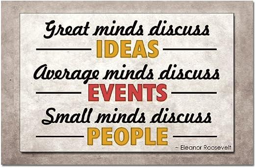 Great Minds Discuss Ideas Refrigerator Magnet