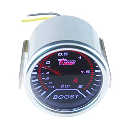 "ESUPPORT Car 2"" 52mm Turbo Boost Gauge Bar Smoke Tint Len Motor Universal: Automotive"